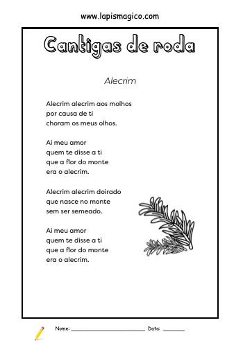 Alecrim, ficha pdf nº1