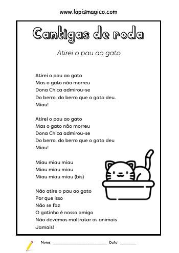 Atirei o Pau ao Gato, ficha pdf nº1
