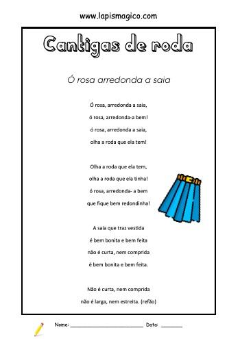 Ó Rosa Arredonda A Saia, ficha pdf nº1