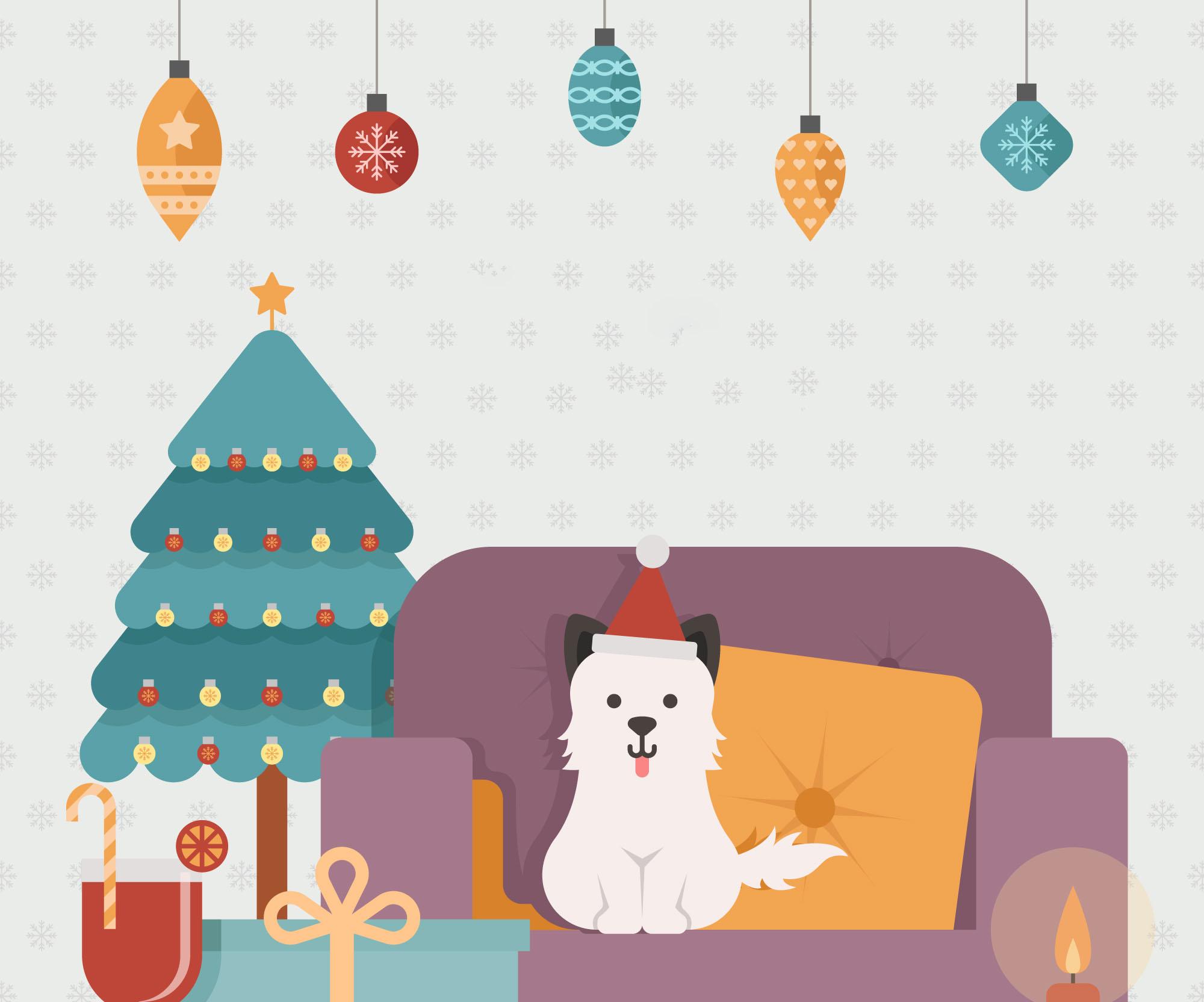 Twinkle, o cão do Pai Natal