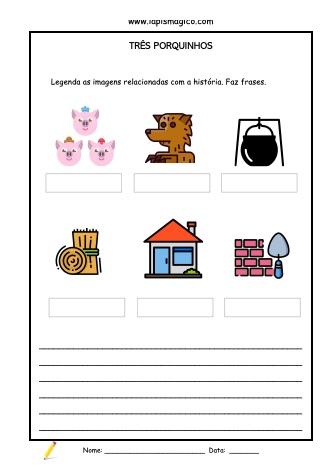 Os três porquinhos, ficha pdf nº1