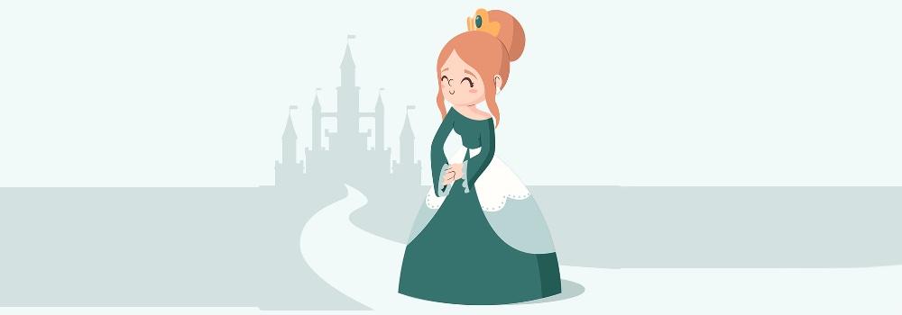 A princesa e a ervilha, adaptação de Hans Christian Andersen